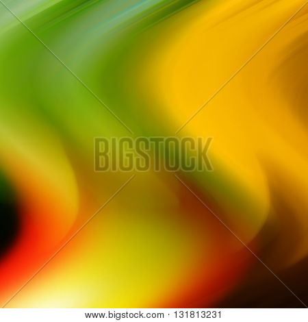 abstract background color wave movement yellow green red