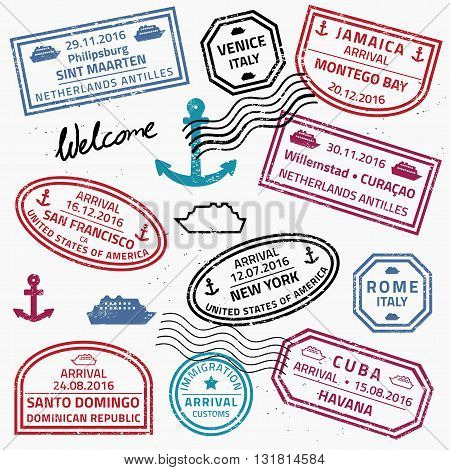 Travel Stamp Collection