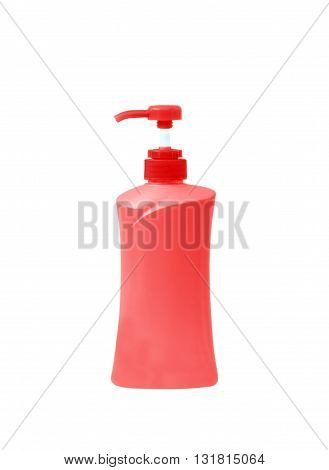 Plastic Bottle pump Of Gel Liquid Soap Lotion Cream Shampoo on white background