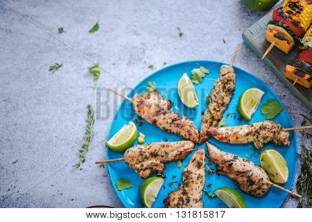 Charcoal Grilled Chicken Kebabs