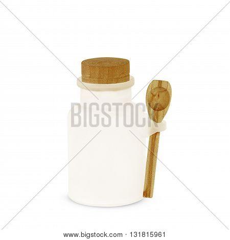 The Honey jar isolated on white background