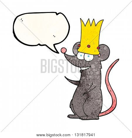 freehand speech bubble textured cartoon rat king