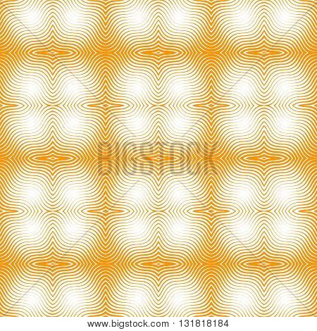 Monochrome seamless background with wavy lines. Vector illustration