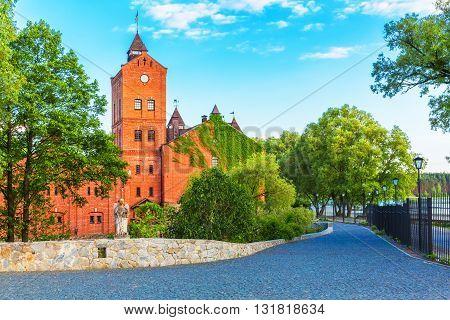 Scenic summer view of the Radomysl Castle, Ukraine