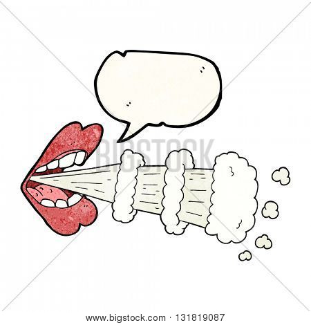 freehand speech bubble textured cartoon mouth breathing