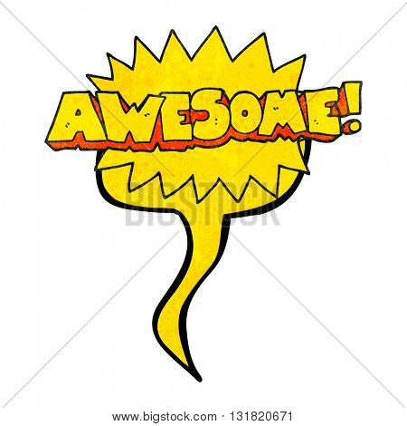 awesome freehand speech bubble textured cartoon shout