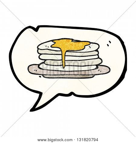 freehand speech bubble textured cartoon stack of pancakes