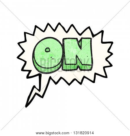 freehand speech bubble textured cartoon on symbol