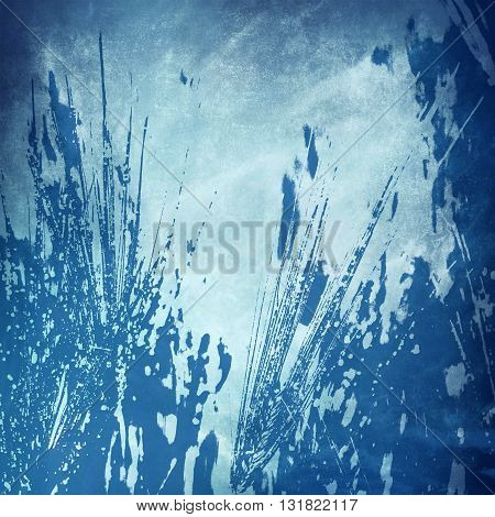 grunge blue background. Watercolor splash background.  Colorful texture.