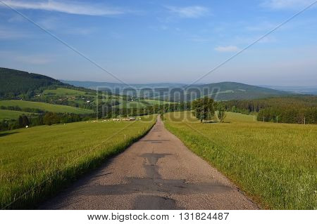 Beautiful landscape in the mountains in summer. Czech Republic - the White Carpathians - Europe. Summertime.