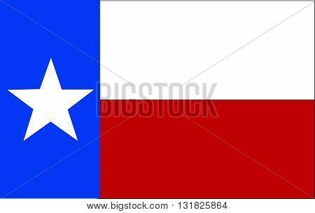 Flag of Texas. Vector illustration art design
