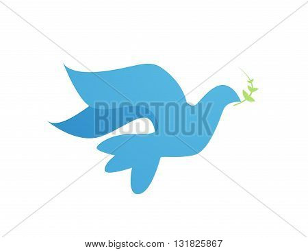 Abstract Dove illustration on white background art