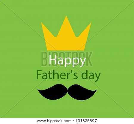 father's day greeting template vector illustration on green background