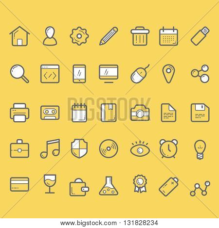 35 finance vector icons, business icons set