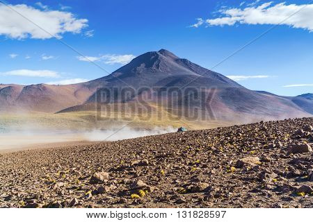 View of high mountain in The National Park Uyuni Bolivia