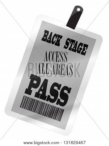 A plastic back stage pass isolated on a white background