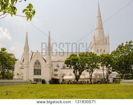 Saint Andrews Cathedral in the city of Singapore