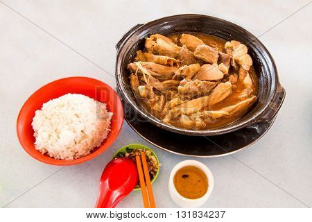 Simple And Authentic Bak Kut Teh Dish With Rice