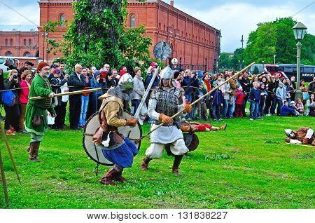 SAINT PETERSBURG RUSSIA -MAY 27,2016. Open air festival of Norwegian culture