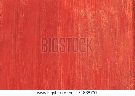Wooden orange red background texture with faded paint