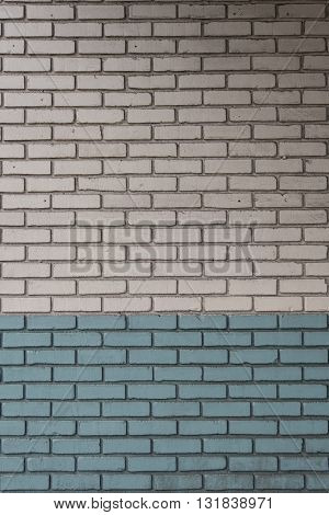White and Aqua Painted Bricks wall background