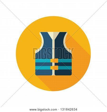Life jacket vector flat icon. Beach. Summer. Summertime. Vacation eps 10