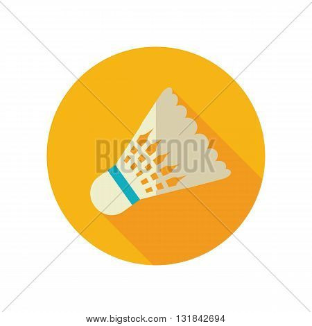 Shuttlecock for badminton sport vector flat icon. Beach. Summer. Summertime. Vacation eps 10