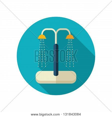 Summer beach pool shower vector flat icon. Beach. Summer. Summertime. Vacation eps 10