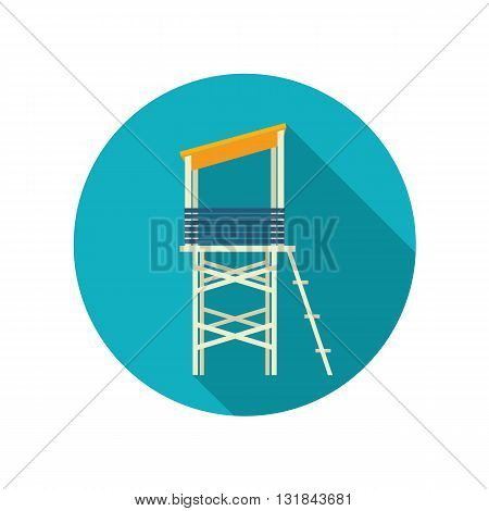 Lifeguard tower vector flat icon. Beach. Summer. Summertime. Vacation eps 10