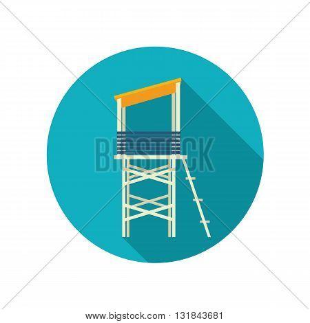 Lifeguard tower vector flat icon. Beach. Summer. Summertime. Vacation eps 10
