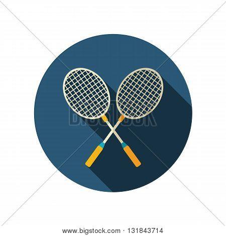Badminton Racket vector flat icon. Beach. Summer. Summertime. Vacation eps 10