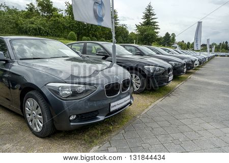 BADEN-BADEN, GERMANY - MAY 29, 2016: BMW car, a customer experience and exhibition facility of the BMW AG