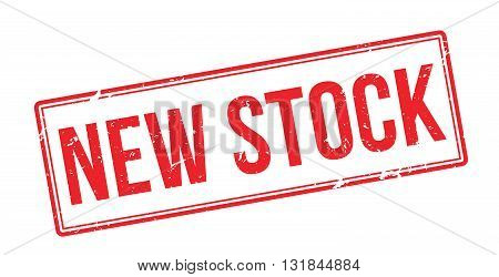 New Stock Red Rubber Stamp On White