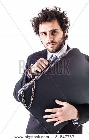 Responsible Businessman With Suitcase
