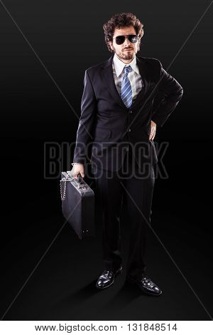 Elegant Businessman With Important Documents