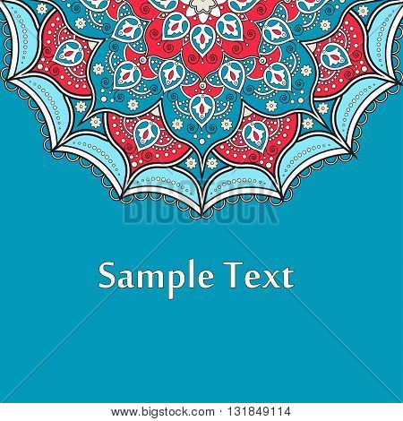Ethnic Colorful Henna Mandala design very elaborate and easily editable