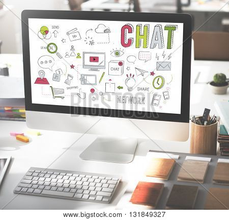 Chat Chatting Social Network Technology Concept