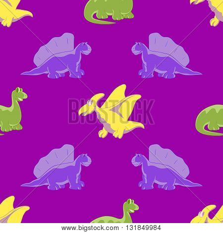 Dinosaurs are kind and funny. Seamless series for young children