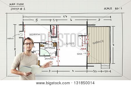 Blueprint Architecture Interior Design Structure Development Concept