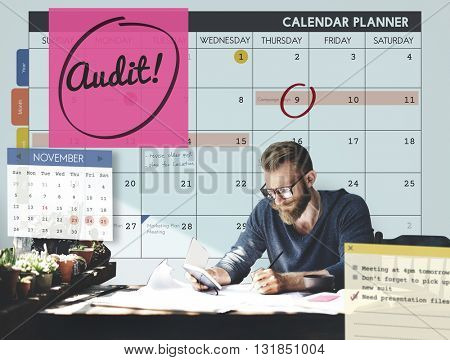 Audit Accounting Appointment Weekly Concept