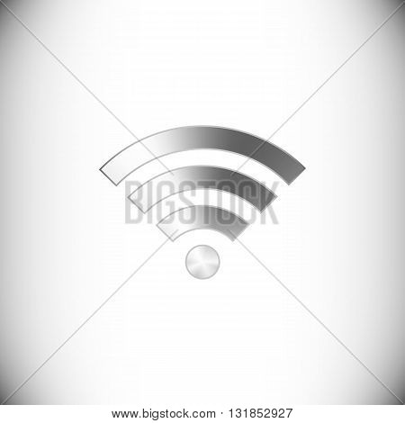 The steel icon representing wi-fi button for web or mobile devices.