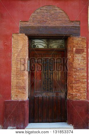 Valencia Barrio del Carmen door in old town of Spain