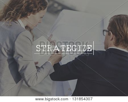 Strategy Strategize Objectives Aims Planning Concept
