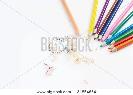pencil color art concept background empty for text or copy horizon frame