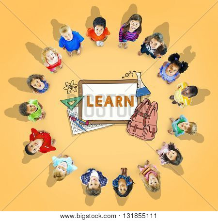 Learn Kids Camp Student Education Concept