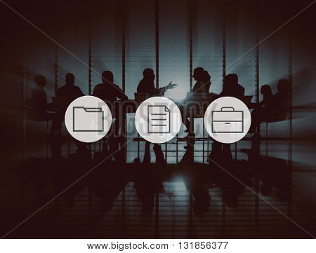 Data Information File Document Organization Management Concept