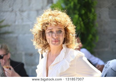 CANNES, FRANCE - MAY 20: Valeria Golino attends the Mayor's lunch given in honour of the media at Place de la Castre during the 69th Cannes Film Festival on May 20, 2016 in Cannes, France.