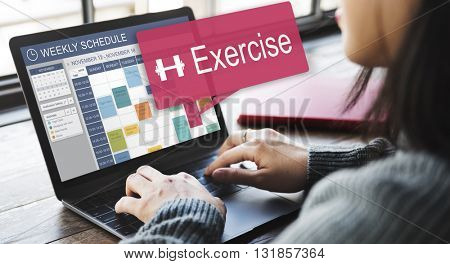 Exercise Activity Appointment Lifestyle Cardio Concept