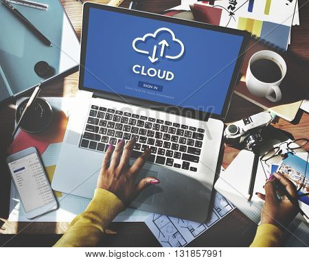 Cloud Computing Database Server Network Concept