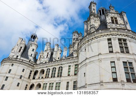 The royal Chateau de Chambord at Chambord Loir-et-Cher France